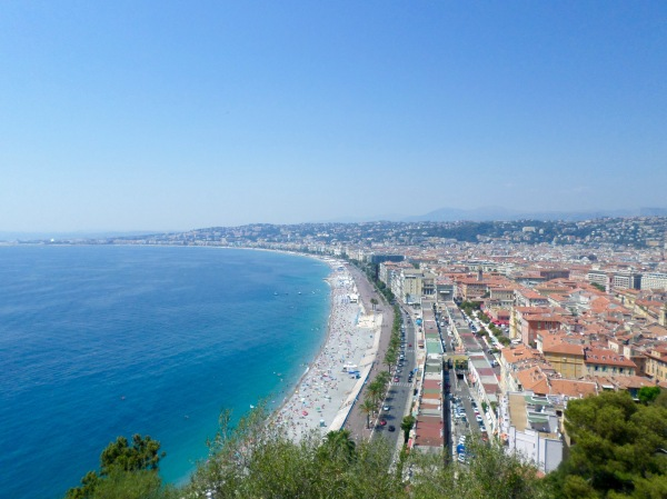 View across Nice from Castle Hill