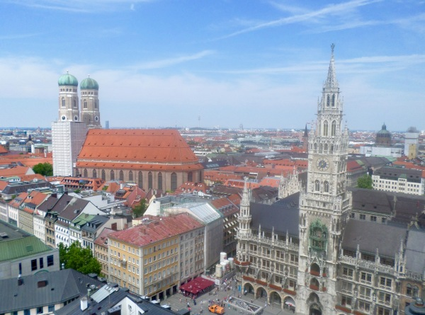 View over Munich, from the tower of St. Peter's Church